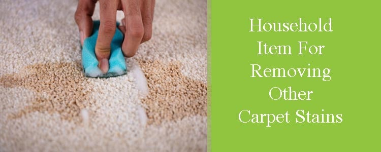 Household Items for Removing Other Carpet Stains